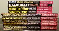 (17) Prima Video Game Strategy Guide Book Lot