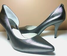sz 8 NEW MICHAEL KORS Nathalie metallic Pump pointed toe heel shoes