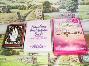 1 x Daily Mantras Confidence Cards 1 x Mandala Meditation Cards 1 x Sm Palm Book