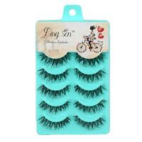 5/10 Pairs False Eyelashes Long Thick Natural Fake Eye Lashes Set Mink Makeup UK