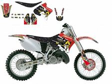 BLACKBIRD HONDA CR 250 1996 KIT GRAFICHE COMPLETO ARMA ENERGY GRAPHICS NERO