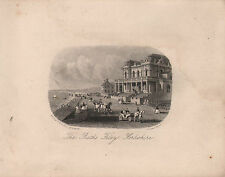1872 VICTORIAN DATED PRINT ~ FILEY ~ THE BATHS ~ YORKSHIRE