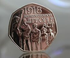 2018 Representation of The People Act 1918 Fifty pence Coin 50p BU - BUnc