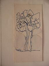 """Dessin Original Slavko KOPAC Kopač (1913-1995) Art Brut """"Bouquet"""" Croatie SK16"""