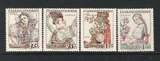 TCHECOSLOVAQUIE / CESKOSLOVENSKO (1957) LOT OF 4**MNH - COSTUMES HEADDRESSES