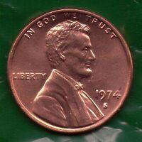 1974 S Penny UNC Slot Filler or Starter Coin   (74S0105)