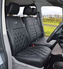 VW Transporter T5 Genuine Fit R Line Diamond Quilted Carbon Van Seat Covers