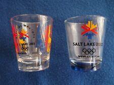 ((2)) 2002 Olympic Winter Games Salt Lake City Utah Shot Glasses