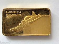 Franklin Mint Ilyushin l1-2 Shturmov 00004000 ik 1941 24 kt Gp Bronze Ingot A4140