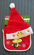 Snoopy/Woodstock Baby babero + gorra/Baby's 1st Christmas/nuevo & OVP
