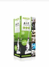 Pifco 6 in 1 multi function steam mop cleaner ..with full cloth and brush set .