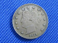 1911 U.S 5 CENT LIBERTY V NICKEL COIN