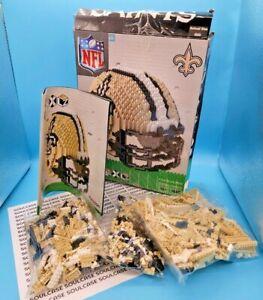 New Orleans Saints NFL Mini 3D BRXLZ Construction Toy Blocks Set Helmet Open Box