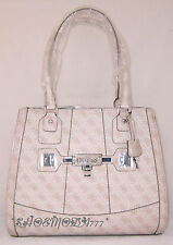 GUESS Reveal Large Tote Business Bag Purse Coated Signature G Canvas Lock Key