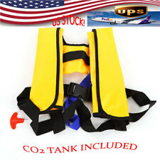 Adult Automatic Inflatable Life Jacket Floating Swimming Aid Safe Yellow