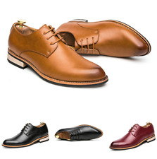 Mens Low Top Leisure Leather Shoes Business Formal Wedding Oxfords Lace up Party