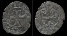 Crusader Archaia Mahaut de Hainaut billon denier no date
