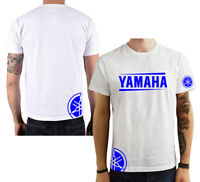 T-Shirt Yamaha moto gp uomo maglia maglietta 100% cotone nera bianca blu