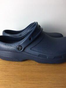 Classic Crocs Navy Blue Iconic Comfort Enclosed UK Size 7/8 Excellent Condition