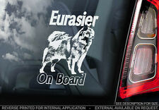 Eurasier - Car Window Sticker - Dog Sign -V01