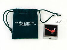 Colourful Cock Pheasant Pillbox Pill Tablet Mint Box Holder in Drawstring Bag