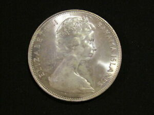 Bahamas 1966 5 Dollars Silver unc Coin