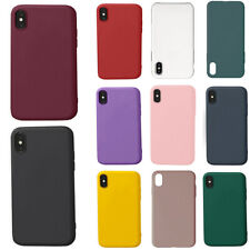 For iPhone XR XSmax Liquid Silicone Shockproof Bumper Phone Case Full Body Cover