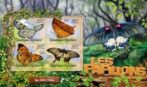Togo - 2016 Butterflies on Stamps - 4 Stamp Sheet - TG16202a