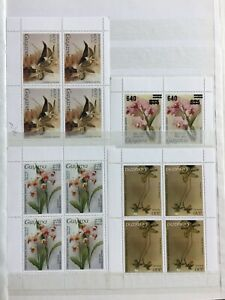 TCStamps 12X Pages of Guyana ORCHID FLOWER Postage Stamps + Souvenir SHEETS #859