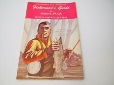 Vintage Fisherman's Guide to Pennsylvania Waters Amos K Hutchinson Stamp
