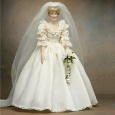 Franklin Mint Princess Diana Bridal Wedding Vinyl Portrait Doll  B11E785 NIB