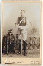 TOP Portrait Foto Gardes du Corps Elite Berlin Schwarzer Kürass Helm Pallasch