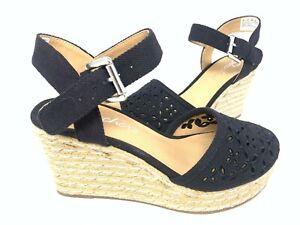 NEW! Skechers Women's TURTLEDOVE Comfort Wedge Sandals Black #39044 81W z
