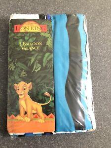 """Vintage Disney The Lion King Simba Balloon Window Valance 80 x 14"""" NEW NOS"""