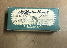Vintage 1950s Clark's Water Scout Lure Box Only Old Pal Orvis Garcia