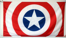 Captain America Flag Marvel Stars Strip Hero Rare Comic 3X5FT Banner US Seller