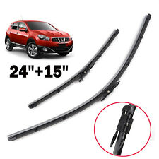 Pair Windscreen Wiper Blades Front Window Frameless For 2007-2013 Nissan Dualis