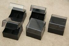 5 x SONY MiniDisc MD Storage Cube Box Rack Container Good Condition