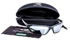 MSA Premium Safety Glasses SILVER LENS & BLACK Frame Sunglasses Specs RRP$90.00