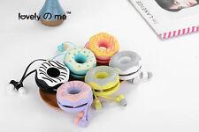 3.5mm Cute Lovely Cartoon Sweet Doughnut In-Ear Stereo Music Earphone
