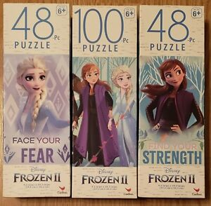 NEW - FROZEN II Puzzle Pack - (2) 48-piece & 100-piece - Elsa & Anna - FREE SHIP