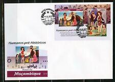 MOZAMBIQUE  2019   PRE- HISTORIC MAN SOUVENIR SHEET FIRST  DAY COVER