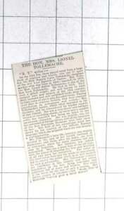 1927 Obituary Of The Hon Beatrix Lucia Tollemache