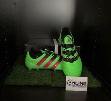 Adidas Ace 16.1 FG/AG Leather - Solar/Pink/Black UK 9.5, US 10, EU 44