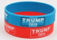 10 each Trump 2020 MAGA Silicone Wristband FREE SHIPPING