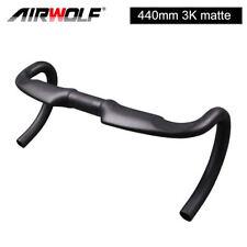 Newest 31.8*440mm matte carbon road bike handlebar 3K weave aero drop handle bar
