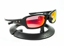 OAKLEY FIVES SQUARED POLISHED BLACK / REVANT MID SUN RUBY RED POLARIZED CUSTOM