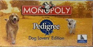 2002 Monopoly Pedigree Dog Lovers Edition Happy Healthy Dog  NEW Sealed