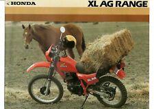 1982 HONDA XL500 250 185 125 100 AG RANGE BIKE 4 pg Motorcycle Sales BrochureNOS