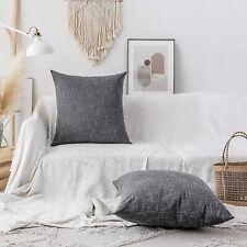 Kevin Textile 2 Pack Dark Gray Linen Pillowcases 24 x 24 B5